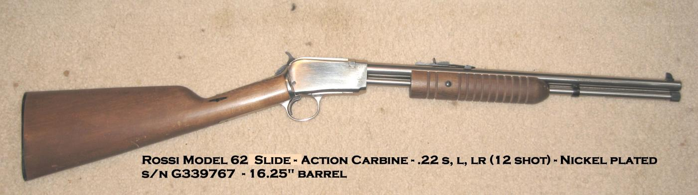 Rossi Model 62 Sa Pump The Firearms Forum The Buying