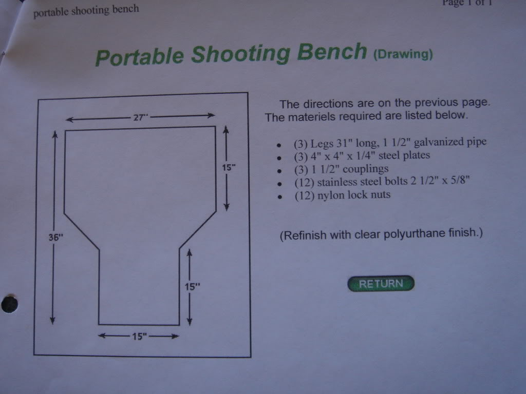 Does Anyone Have Plans For A Shooting Bench The