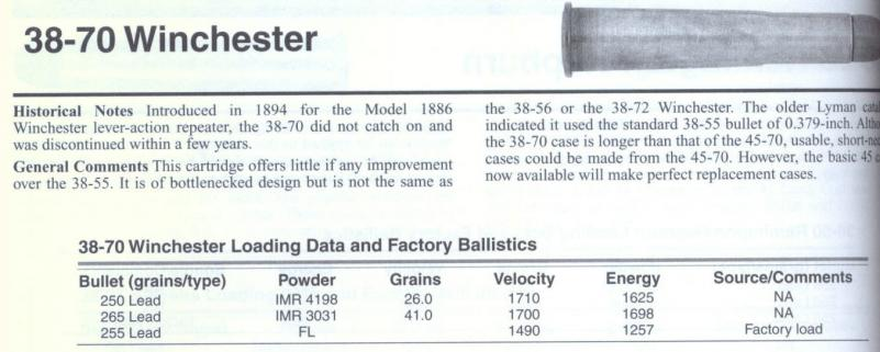 38-70 reloading info needed | The Firearms Forum - The