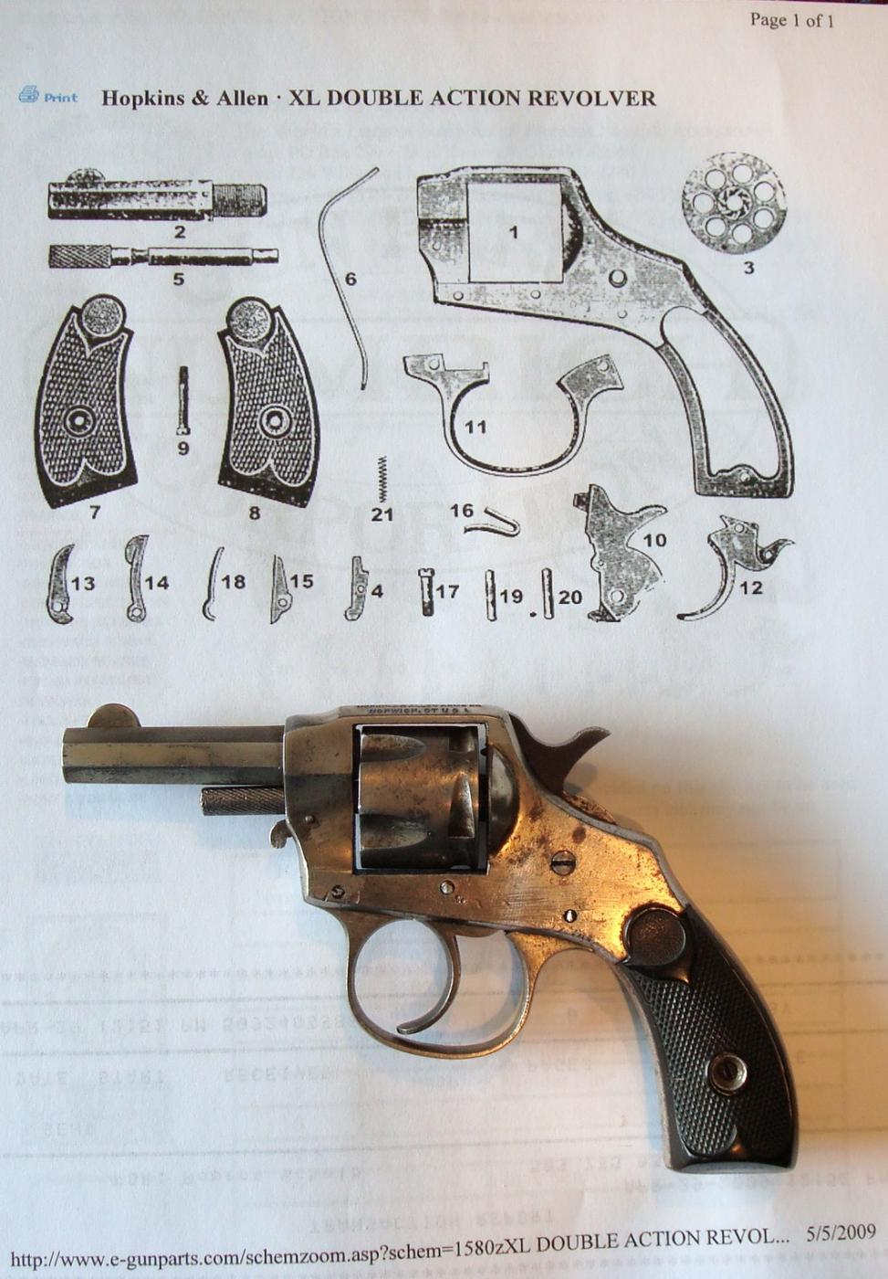 Need Hopkins Allen Revolver Parts The Firearms Forum The