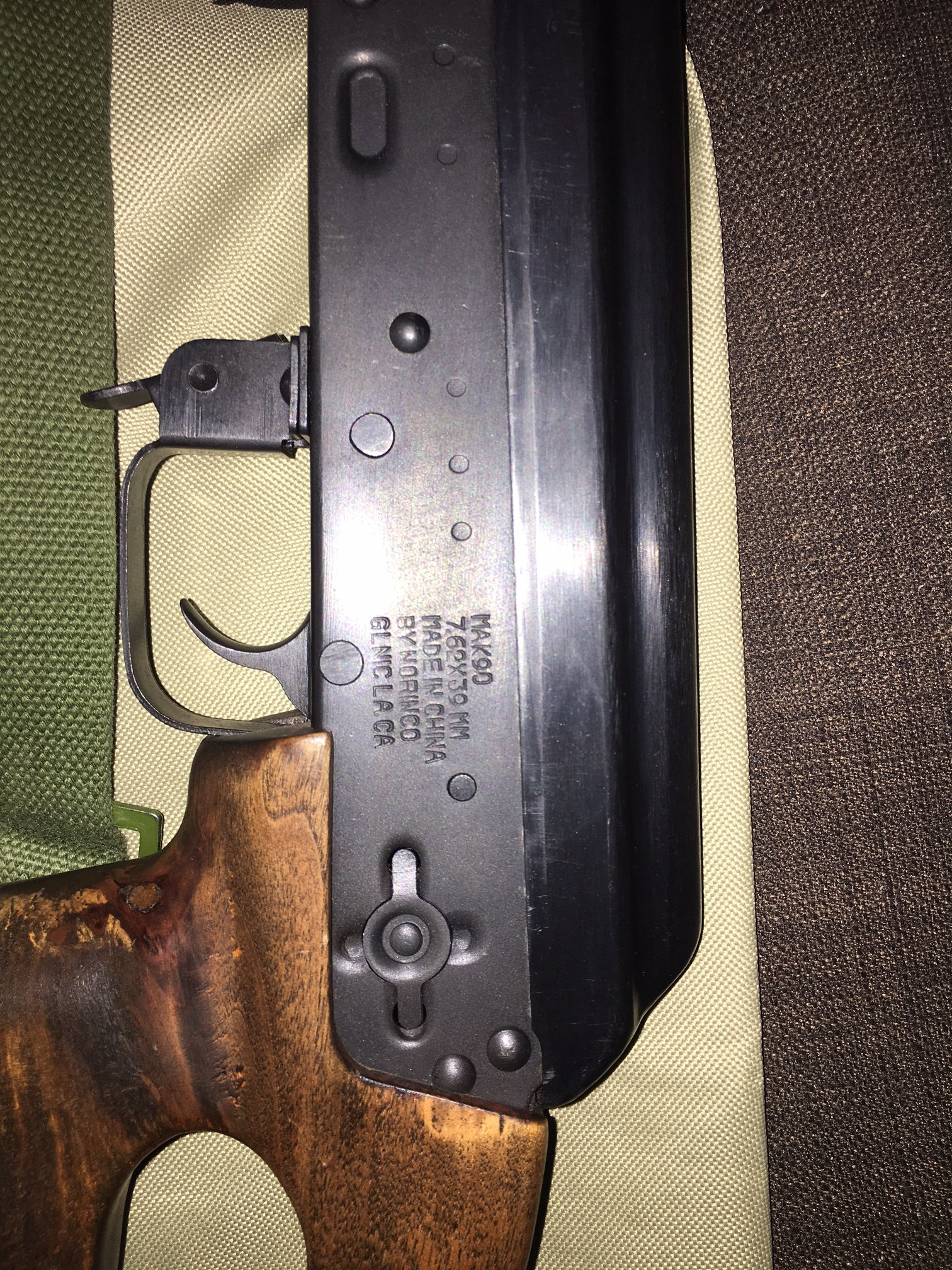Mak90 Thumbhole Replacment That Was An Underfolder With The Cross On
